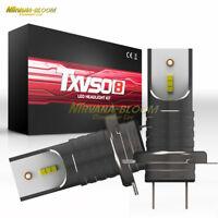 2x 110W H7 Car LED Headlights Bulbs 30000LM DRL Driving Auto Conversion Lamp Kit