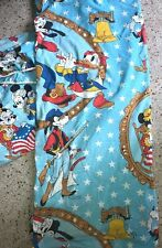 1976 DISNEY BICENTENNIAL MICKEY MINNIE MOUSE GOOFY BLUE TWIN FLat Fitted Sheets