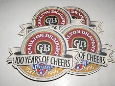 Carlton Draught 100 Years Of Cheers Centenary AFL Footy Coasters Mixed lot x 10