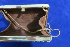 !!! RARE  Gold-Pfeil rigid golden cocktail bag with chain !!!