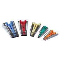 6-25mm 5x Fabric Bias Tape Makers Kit Set Sewing Quilting Binding Gluing Tool