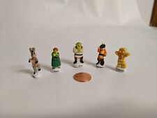 New Shrek Set French Feves Gingerbreadman, Puss 'N Boots, Shrek, Fiona, Donkey