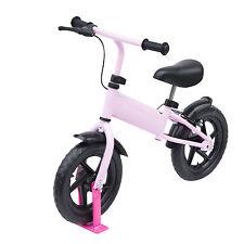 Bicicleta de entrenamiento HOMCOM Niños Equilibrio Primera Bicicleta chindren de acero ligero rosa