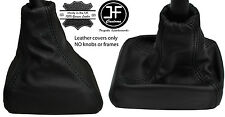 BLACK STITCHING REAL LEATHER GEAR BOOT FITS HOLDEN ASTRA BARINA TIGRA CALIBRA