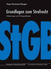 Grundlagen zum Strafrecht von Tanja Hartmann-Wergen (2018, Kunststoffeinband)
