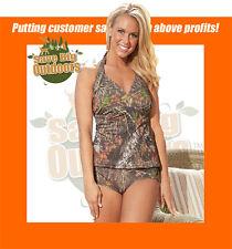 S SM Mossy Oak Break-up Camo Halterkini Swim Suit Top 607321-S