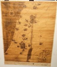THE HOLY LAND JERUSELEM LIMITED EDITION TRANSAMERICA MAP BY DAVE JOHNSON
