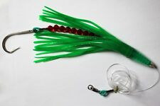 "RIGGED GREEN MACHINE STYLE LURE SMACKER OFFSHORE TUNA MARLIN 9"" GREEN"