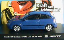 SEAT IBIZA 3 PORTES DOORS TDI BLUE 2002 IXO FISHER 1/43 KRAFT BLAU BLEU 3 PORTES