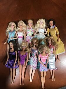 BARBIE DOLL LOT OF 10