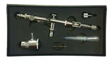 AB-202 - DOUBLE ACTION GRAVITY SIDE FEED AIRBRUSH WITH PAINT FLOW CONTROL 0.2MM