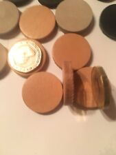 """30 X 1""""/25mm 4/6mm Thick Leather Discs Veg Tan Leather Made In Uk"""