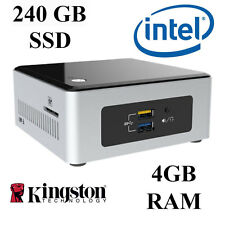 Intel NUC Mini PC / 4GB RAM / 240GB SSD / Windows 10 PRO / Small Form Factor