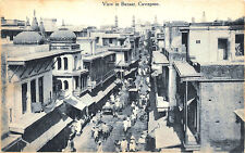 Cawnpore Kanpur India View in Bazaar Street View Raphael Tuck Postcard