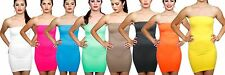 Women's Seamless Strapless Fitted Mini Dress One Size Fits All Free Ship $5.99