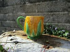 More details for antique majolica milk / cream jug - corn on cob - vintage country kitchen decor