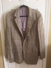 Mens Sport Coat Raw Silk Size Large Vintage