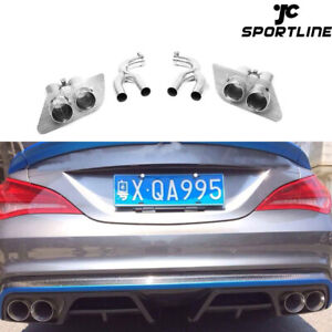 Rear Exhaust Pipes Tip Muffler Tail Fit for Benz C117 CLA45 CLA250 2013-2014