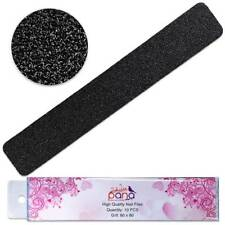 Pana Professional Jumbo Black Nail Files with Pink Center Grit 80/80 – 20pcs
