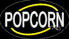 """Brand New """"Popcorn"""" 30x17 Oval Solid/Flash Real Neon Sign w/Custom Options 14 00004000 280"""