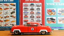 #Antique Tin Toy# France Joustra Packerd Fire Department Car Battery Sirene
