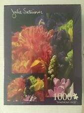 "New Sealed Julie Satinover ""Symphony in G"" Floral 1000 Piece Puzzle"