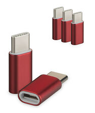 3er Set USB 3.1 Typ-C auf Micro USB Adapter rot f Huawei Mate 20 Pro Type-C