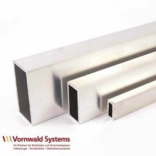 Aluminium Rechteckrohr Alu Vierkantrohr Profil Breite 20-60 mm Länge bis 2000 mm