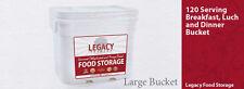 Legacy 120 Serving Grab & Go Breakfast, Lunch, & Dinner Emergency Storage Meals