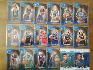 2017-18 Donruss Rated Rookie NBA RC Lot (50) Kuzma, Isaac, Brooks, Monk, Kennard