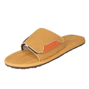 Timberland Mens Sandals Cabo Slide Retro Wheat Brown Leather 40510 M