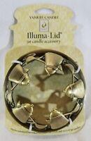 Yankee Candle ILLUMA LID Illumalid COFFEE for Medium/Large Jars Gold Burn Even