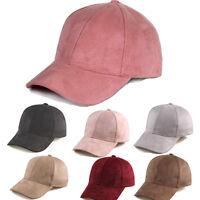 Men Women Suede Baseball Cap Unisex Snapback Visor Sport Sun Adjustable Hat Punk