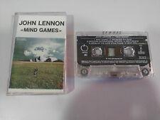 JOHN LENNON MIND GAMES CASSETTE TAPE CINTA APPLE EMI ITALY EDITION 1973