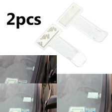 2pcs Car Vehicle Motorhome Van Bus Windscreen Parking Ticket Clip Holder Pass UK
