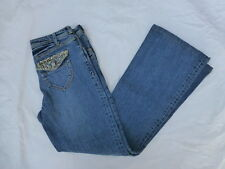 WOMENS CACHE FLARE STUDDED JEANS SIZE 6x29.5 #W784