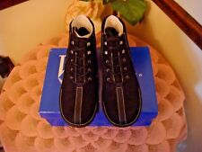 White Mountain Water Resistant Nubuck Leather Lace-up Ankle Boots  BLACK  9 1/2