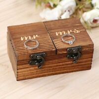 Wooden Ring Box Wedding Ring Bearer Box Engagement Ring Holder for Wedding Party