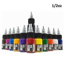 12 Color Mini Travel Set — Solid Ink — 1/2oz Bottles