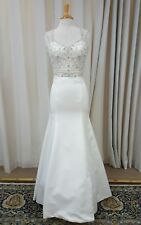 NEW Justin Alexander Sincerity Bridal Mermaid Gown Lace 3805 Wedding Dress Ivory