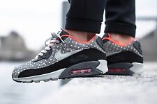 Nike Air Max 90 LTR Premium Black/Granite-Bright Crimson 666578-006 Mens Sz 8