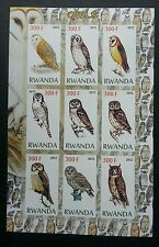Rwanda Owl 2012 Bird Of Prey Fauna (miniature sheet) MNH *imperf