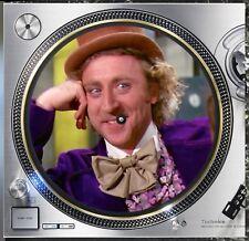"Willy Wonka Gene Wilder #2 Slipmat 12"" Lp Scratch Pad Slip Mat Dj Audiophile"