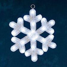 Konstsmide LED Acryl Schneeflocke 28 kalt weiße Dioden 39x39cm IP44 Outdoor