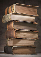 Framed Print - Stack of Antique Vintage Books (Picture Hidden Knowledge Art)
