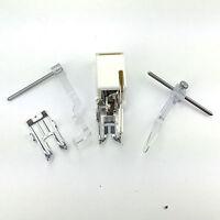 ELNA Obertransportfuss für Nähmaschine, 4 Teile Set mit Lineal und offenen Fuss