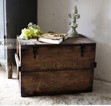 Holzkiste Bordeaux Truhe Couchtisch  Frachtkiste  Vintage * Retro Hocker