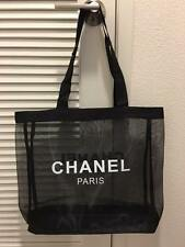 CHANEL Mesh Bag Tote VIP Gift Beach Black Chain Shopping Beauty ...