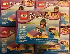 Lego Friends 41000 Kate Lot of 5 Jet Ski Water Scooter Fun WORN BOX SEALED fr/sh