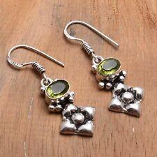 "Jewelry 1.32"" Ae 83942 Peridot Handmade Drop Dangle Earrings"
